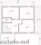"""Недостроенный 2-этажный дом, г. Рыбница, ул.Мира, р-он """"виноградники""""=31500 евро"""
